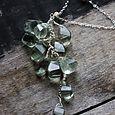 appletini . green amethyst pendant