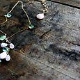 savannah luxe pendant . pink opal + prehenite